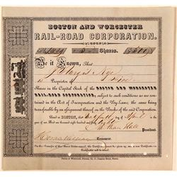 Boston & Worcester Rail-Road Corporation Stock, 1848  (111166)