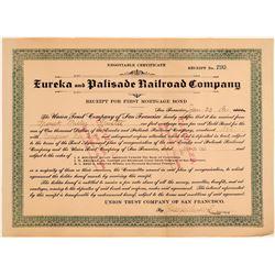 Eureka & Palisade Railroad Company Bond  (106778)