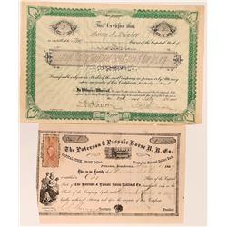 New Jersey Railroad Stocks  (117872)