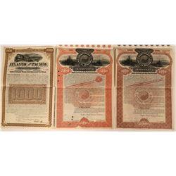 Three Coast to Coast Railroad Gold Bonds  (117192)