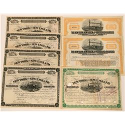 Seven New York RR stocks  (115967)