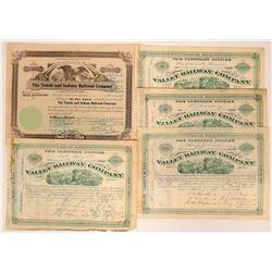 Ohio Railroad Stock Certificates  (117493)