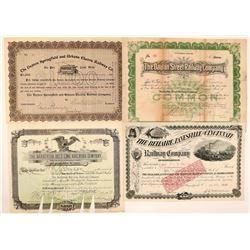 Ohio Railroad Stocks and Bonds (4)  (111645)