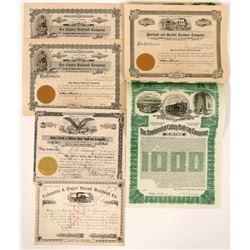 Oregon Railroads Stock Certs  (117230)