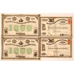Stocks and Bonds for the Union Passenger Railway Company of Philadelphia  (110532)