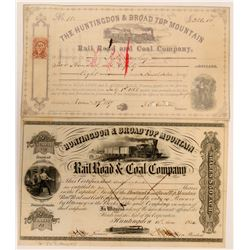 Two Coal & Railroad Company Stock Certs  (117495)