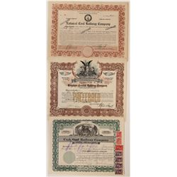 Utah Coal RR Stock Certificates  (117224)