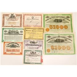 Western Railroads Stock Certificates  (117232)