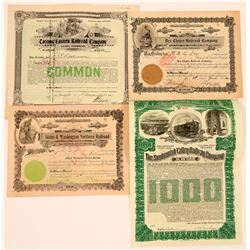 Central Washington Railroad Stock Certs   (117220)
