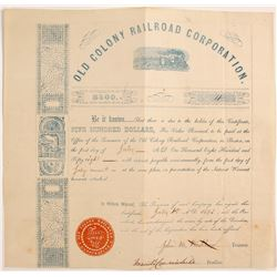 Old Colony RailRoad Corporation Stock Certificates  (80675)