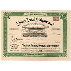 Toliver Aerial Navigation Stock Certificate, 1901  (111782)