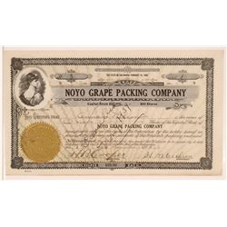Noyo Grape Packing Co. Stock, Mendocino County, California  (111940)