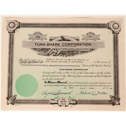 Tuna Shark Corporation Stock, Bay Area, California Tuna & Crab Fishing  (111816)