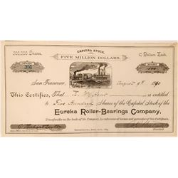 Eureka Roller-Bearings Company with unique vignette and tie to horse racing  (119410)