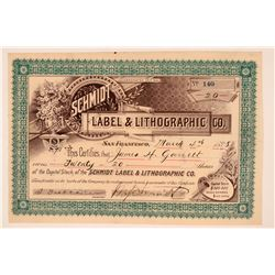 Schmidt Label & Lithographic Co. Stock  (119770)