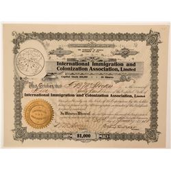 International Immigration and Colonization Assoc., LTD  (115888)
