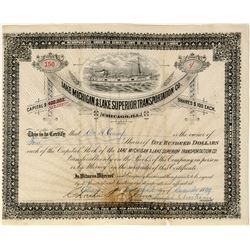 Lake Michigan & Lake Superior Transportation Co. Stock   (119592)