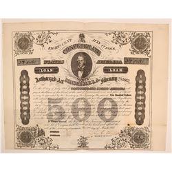 Confederate Bond, 1863, $500 from Richmond, Virginia  (111932)