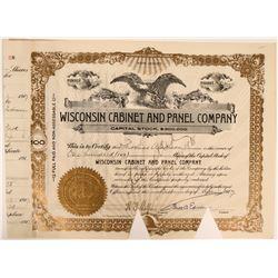 Thomas Edison signature on Wisconsin Cabinet and Panel Company Stock  (119411)