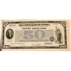Liberty Loan Bond of 1917, $50 Denomination  (111826)
