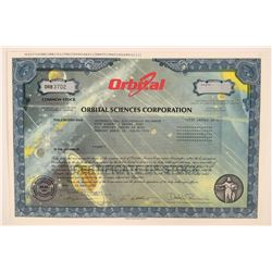 Orbital Sciences Stock Certificate With Planets and the Galaxy Vignette  (111957)