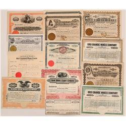 Alaska Mining Stock Collection  (117912)