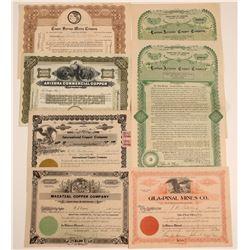 Gila County Mining Stock Certificates & Bonds  (106793)