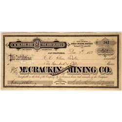 McCrackin Consolidated Mining Company Stock Certificate  (107437)
