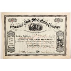 Cincinnati Gold and Silver Mining Company Stock  (77014)