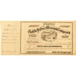 Porter Gold & Silver  Mining Co. Stock Issued to Porter  (59502)