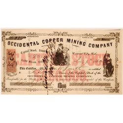 Occidental Copper Mining Company Stock  (119419)