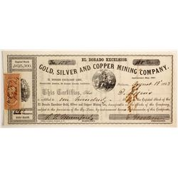 El Dorado Excelsior Gold, Silver and Copper Mining Company Stock  (90475)
