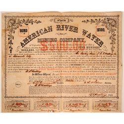 American River Water & Mining Company Bond  (107482)