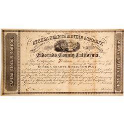 Eureka Quartz Mining Company Stock  (90496)