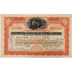 Greenwater & Death Valley Copper Co Stock, Inyo County, Cal. 1907  (111774)