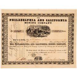 Philadelphia and California Mining Stock  (105584)