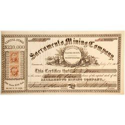 Sacramento Mining Company Stock Certificate  (79702)