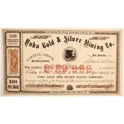 Yuba Gold & Silver Mining Company Stock Certificate  (77042)