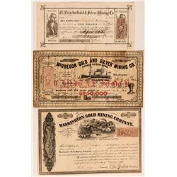 California Mining Stocks (McGregor, El Picacho)  (117843)
