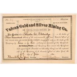 Vulcan Gold & Silver Mining Stock, Ouray, Colorado, 1880  (111976)
