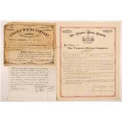 Virginia Mining Co. of Rosita Stock & Bond  (107079)