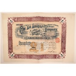 DeLamar Company, Delamar, Idaho,  Beautiful Mining Purchase Warrant, 1902  (111971)