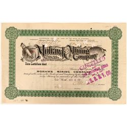 Mohawk Mining Co Stock, Michigan, 1900, Green, Very Rare, 1 Known  (111750)