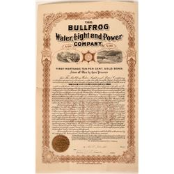 Bullfrog Water, Light & Power Co. Bond, Nevada 1905  (111771)