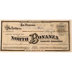 North Bonanza Mining Co Stock, Storey County, Nevada, 1879  (111806)