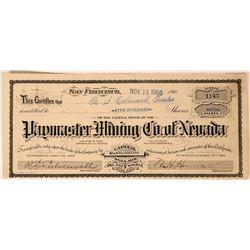 Paymaster Mining Company of Nevada Stock, Esmeralda County, Nevada  (111807)