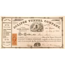 Eclipse Tunnel Company Stock Certificate  (117186)