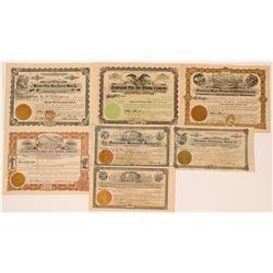 Rare Manhattan, Nevada Mining Stock Group (7)  (111662)