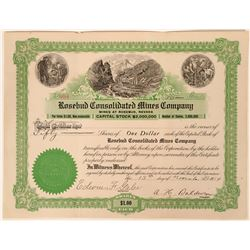 Rosebud Cons. Mines Company Stock, Rosebud, Nevada, 1914  (111798)