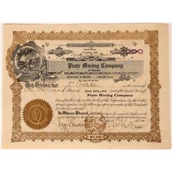 Piute Mining Company of Nevada Stock, Searchlight, 1906  (111800)